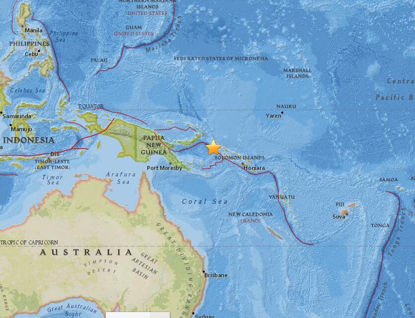 地震,新不列颠岛